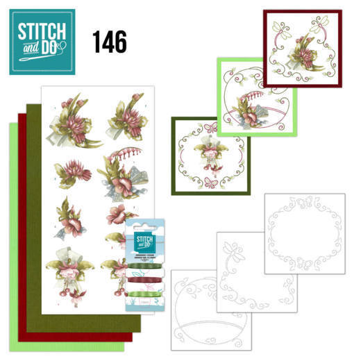 Stitch and Do Pakket 146 - pretty flowers