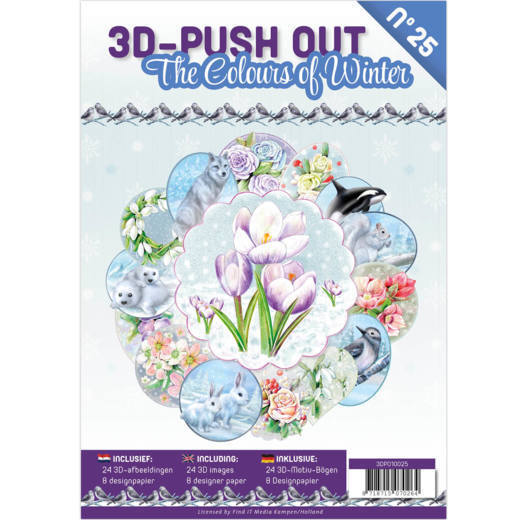 3D Push Out Book - the colours of winter