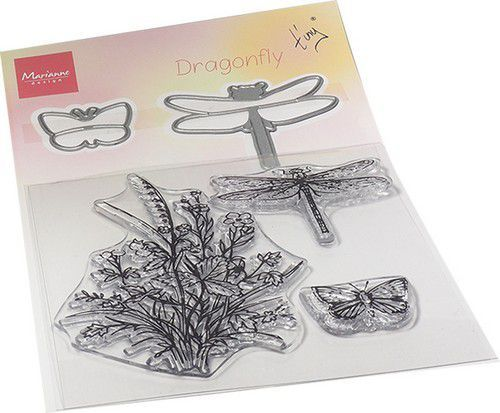 Marianne Design Clearstamps & Dies - Tiny's Dragonfly