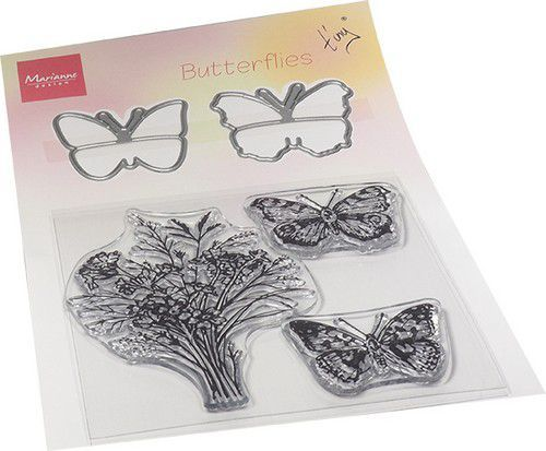 Marianne Design Clearstamps & Dies - Tiny's Butterfly