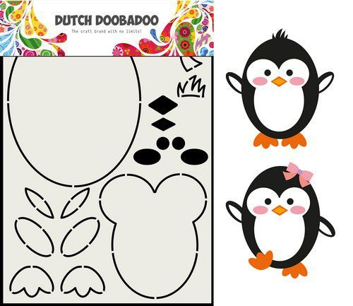 Dutch Doobadoo Card Art - pinguin A5