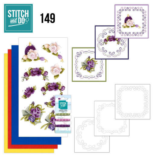 Stitch and Do Pakket 149 - romantic roses
