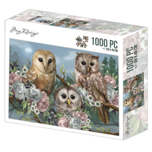 Puzzel Amy Design - romantic owls