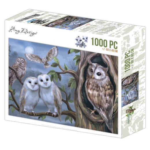 Puzzel Amy Design - amazing owls