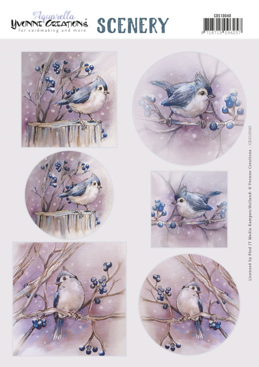 Stansvel Scenery - Yvonne Creations - Aquarella - birds