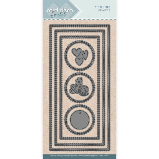 Card Deco Essentials Slimline Dies - hearts