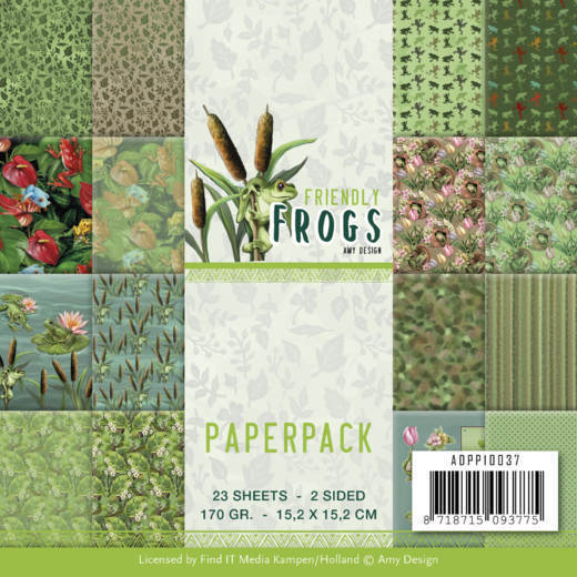 Paper Pack Amy Design - Friendly Frogs