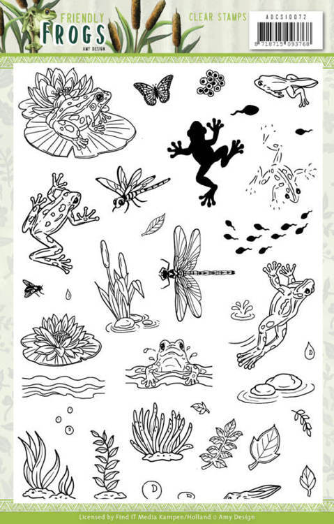 Clearstamps Amy Design - Friendly Frogs