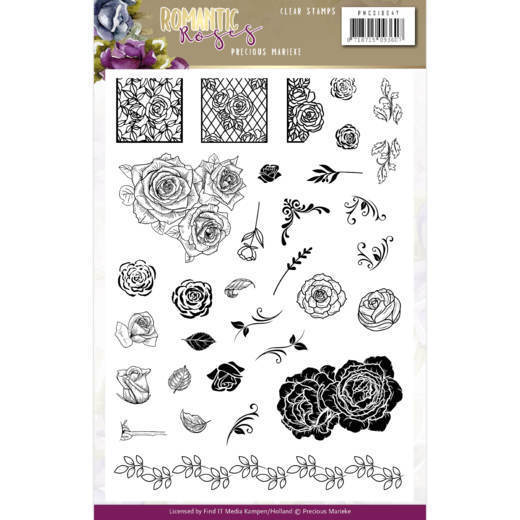 Clearstamps Precious Marieke - Romantic Roses
