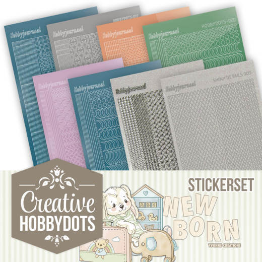 Stickerset bij Creative Hobbydots 11 - Yvonne Creations - New Born