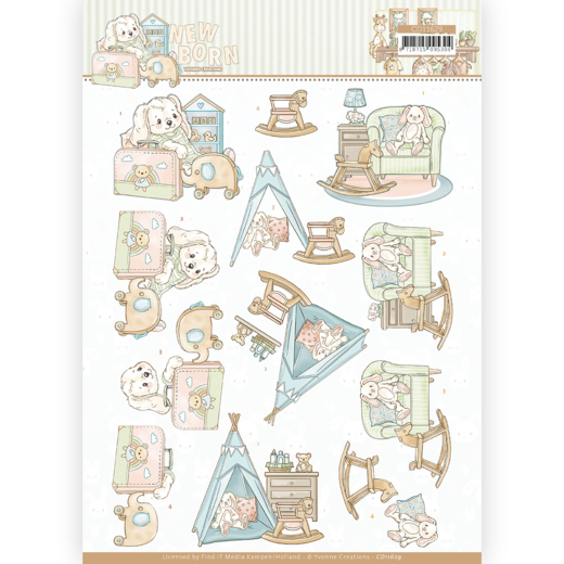 Knipvel Yvonne Creations - New Born CD11629