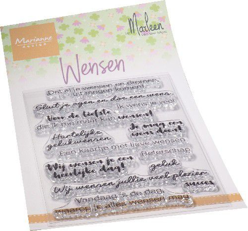 Clearstamps Marianne Design - Wensen