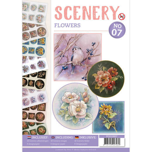 Push Out Book Scenery 07 - flowers