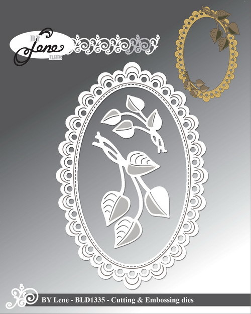 By Lene Stans - Oval Frame with Leaves