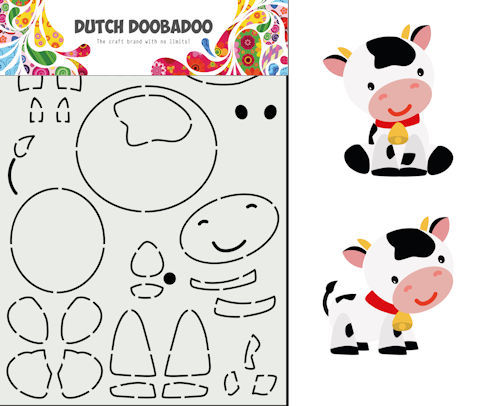 Dutch Doobadoo Card Art - koe A5