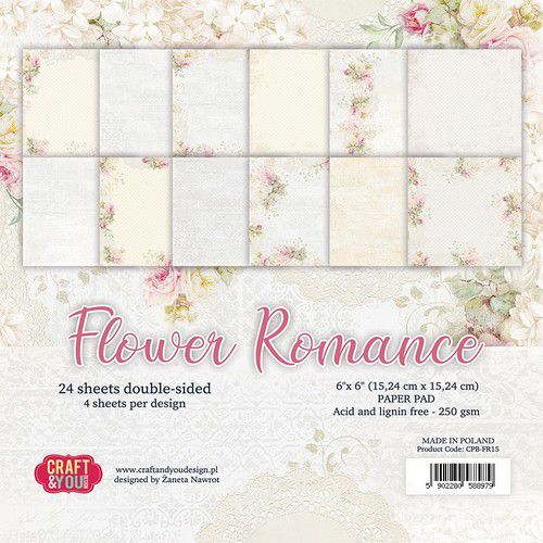 Paper Pad Craft & You - Flower Romance (6 x 6 inch)