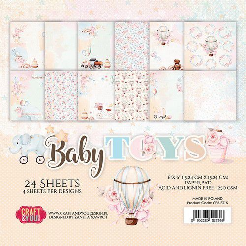 Paper Pad Craft & You - Baby Toys (6 x 6 inch)