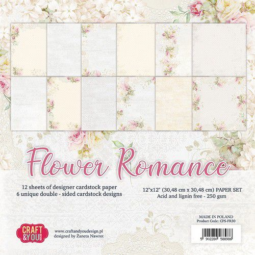 Paper Pack Craft & You - Flower Romance (12 x 12 inch)