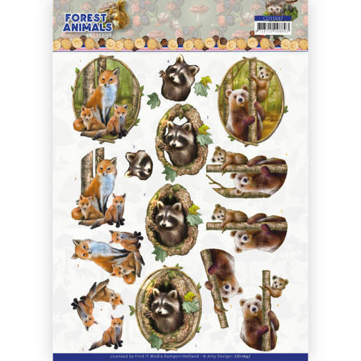 Knipvel Amy Design - Forest Animals CD11647