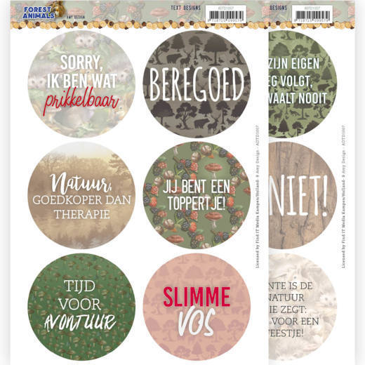 Amy Design Text Designs - Forest Animals (NL)