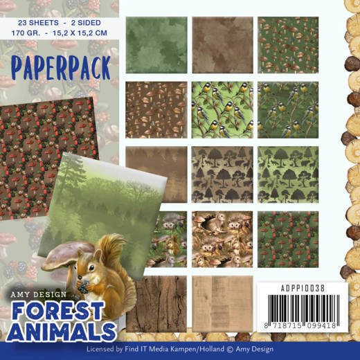 Paper Pack Amy Design - Forest Animals