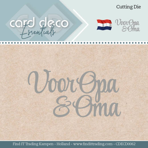 Card Deco Essentials Stans - voor opa & oma