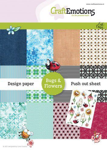 Craft Emotions Paper Pack - Bugs & Flowers