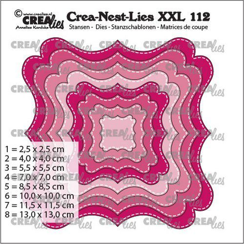 Crealies XXL Stans nr. 112 - fantasy shape F stitch