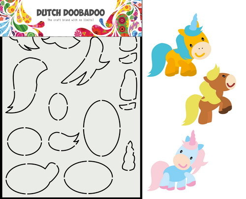 Dutch Doobadoo Card Art - paard A5
