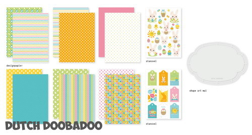 Dutch Doobadoo Set - Easter Bunnies A5