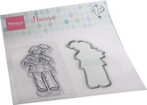 Marianne Design Clearstamps & Dies - nurse