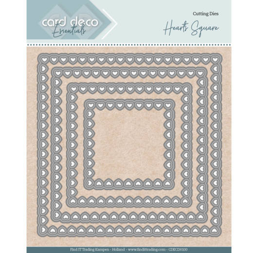 Card Deco Essentials Stans - hearts square