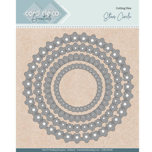 Card Deco Essentials Stans - stars circle