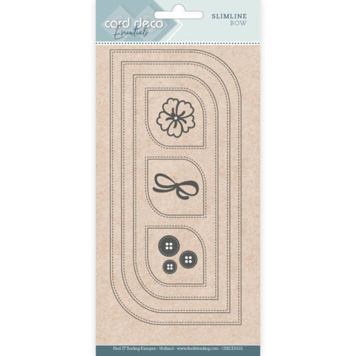 Card Deco Essentials Slimline Dies - bow