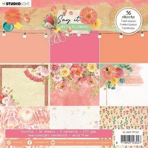 Paper Pad Studio Light - Say it with Flowers 161