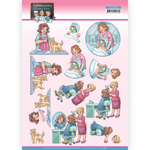 Knipvel Yvonne Creations - Bubbly Girls Professions CD11665
