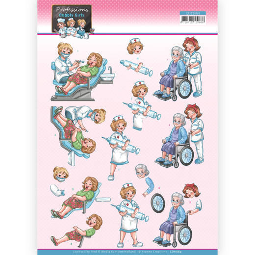 Knipvel Yvonne Creations - Bubbly Girls Professions CD11664