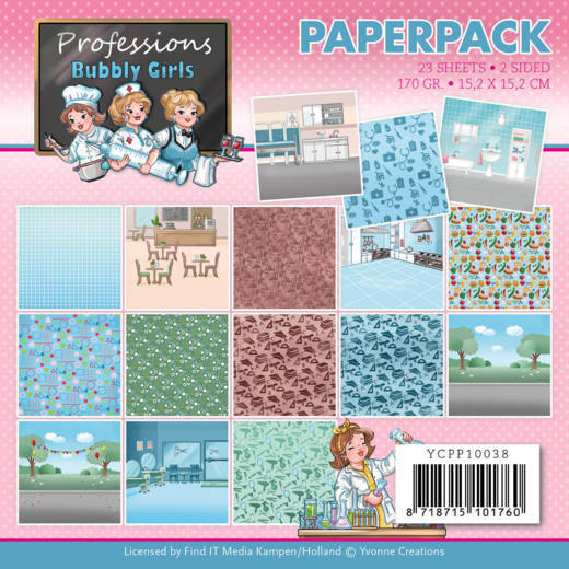 Paper Pad Yvonne Creations - Bubbly Girls Professions