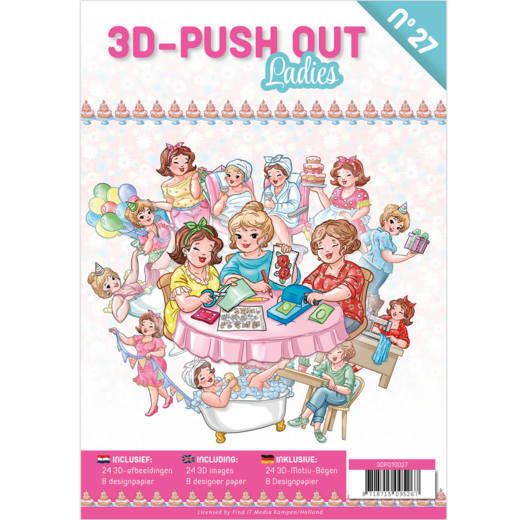 3D Push Out Book - ladies