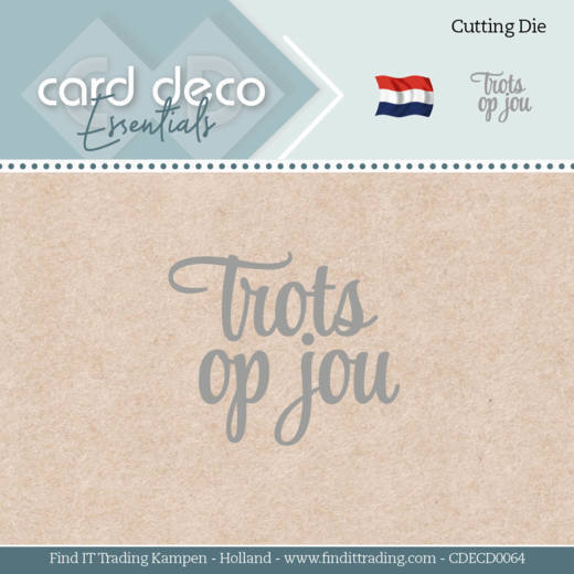 Card Deco Essentials Stans - trots op jou