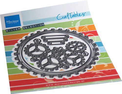 Craftables Marianne Design - gears doily