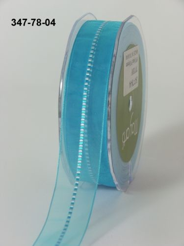 May Arts Lint - Sheer/Satin Stitched Center - turquoise