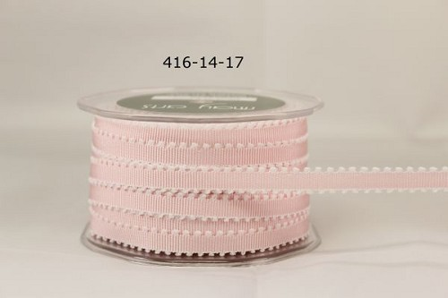 May Arts Lint - Grosgrain / Picot Edge - lichtroze