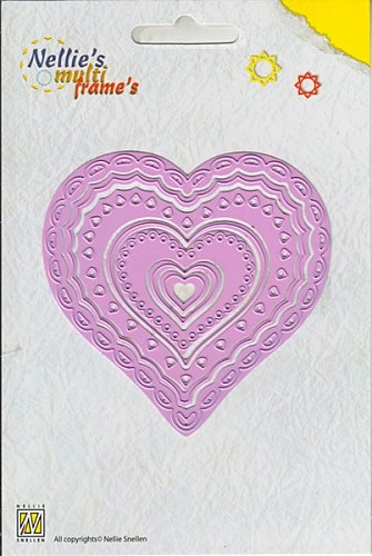 Nellie`s Multi Frames - Heart-2