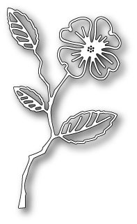 Memorybox Stans - Dogwood Blossom Outline