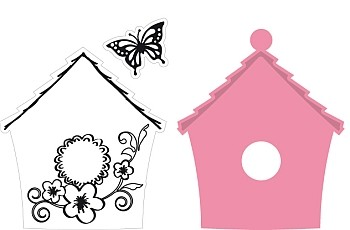 Marianne Design Collectables - Birdhouse Flowers