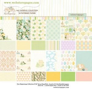 Webster`s Pages Paper Pad - New Beginnings