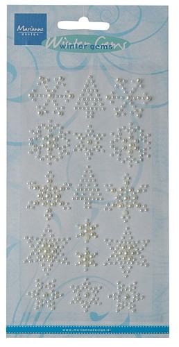 Marianne Design Snowflakes & Trees - off white pearls