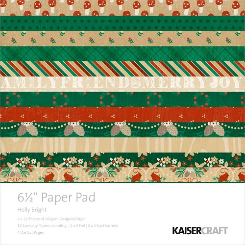 Kaisercraft Paper Pad - Holly Bright