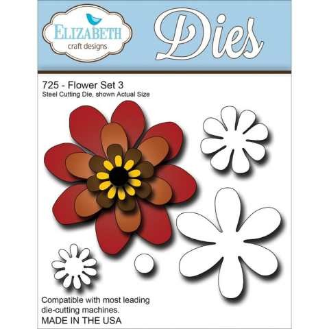 Elizabeth Craft Designs Dies - Flower Set 3